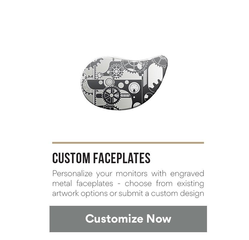 Custom faceplate artwork with
