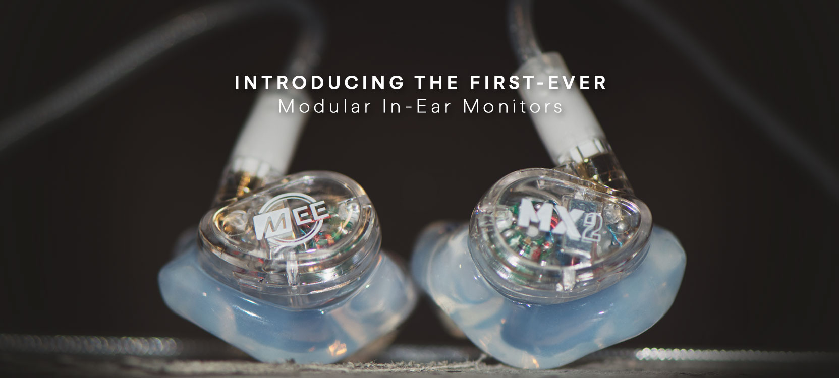 MX2 PRO modular in ear monitors with clear custom eartips